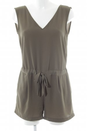Zara Basic Jumpsuit khaki casual uitstraling