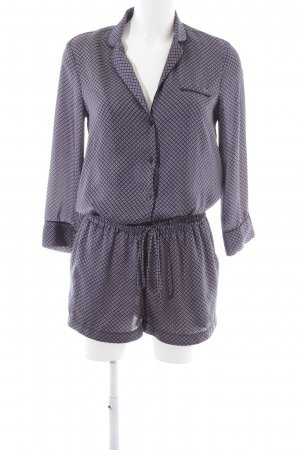 Zara Basic Jumpsuit lila grafisch patroon casual uitstraling