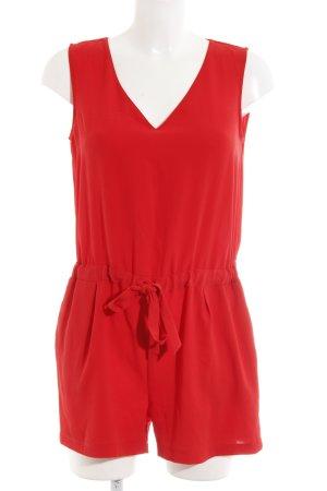 Zara Basic Tuta rosso stile spiaggia