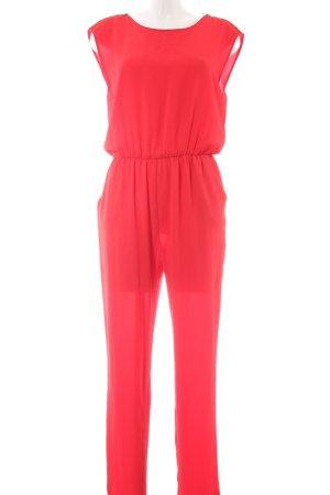 Zara Basic Tuta rosso elegante