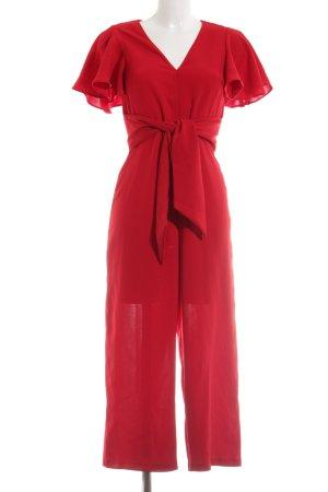 Zara Basic Jumpsuit rot Elegant