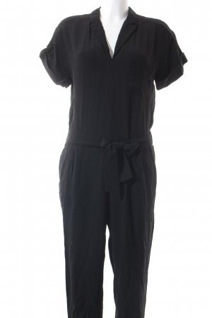 Zara Basic Jumpsuit schwarz Urban-Look