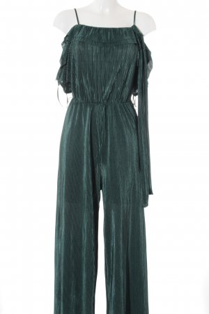 Zara Basic Jumpsuit waldgrün Casual-Look