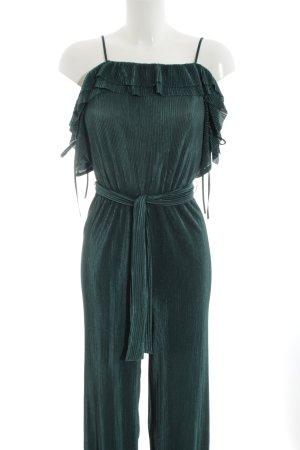 Zara Basic Jumpsuit waldgrün Elegant
