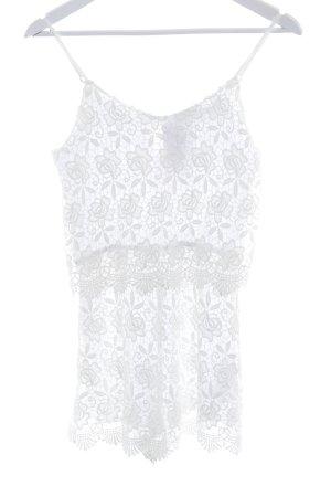 Zara Basic Combinaison blanc motif floral style décontracté