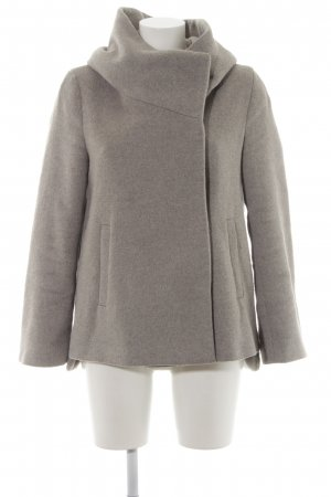 Zara Basic Hooded Coat light grey casual look