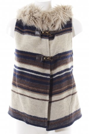 Zara Basic Hooded Vest striped pattern casual look