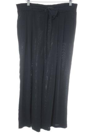 Zara Basic Peg Top Trousers black elegant