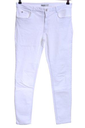 Zara Basic Jeans a carota bianco stile casual