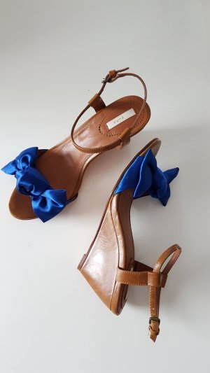 Zara Basic Wedge Sandals multicolored
