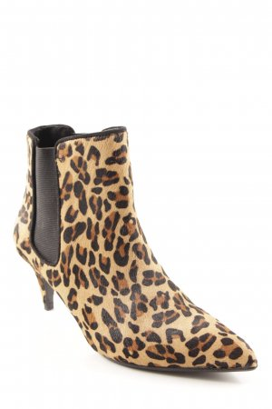 Zara Basic Keil-Stiefeletten Animalmuster Animal-Look
