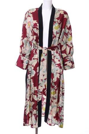 Zara Basic Kimono Blumenmuster extravaganter Stil