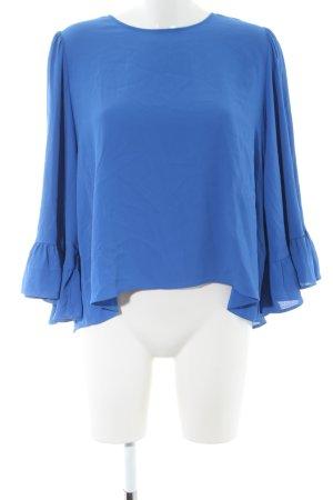 Zara Basic Kimono Blouse blue business style