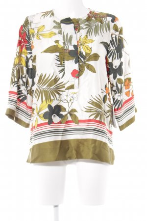 Zara Basic Kimono-Bluse Blumenmuster Casual-Look