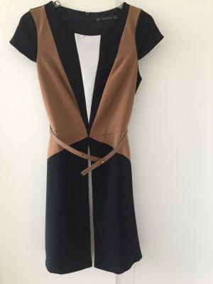 Zara Basic Kleid dreifarbig