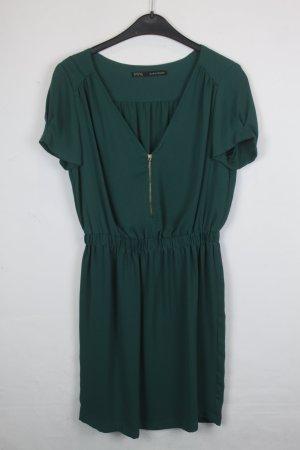 Zara Basic Kleid Etuikleid Gr. M dunkelgrün (18/4/331)