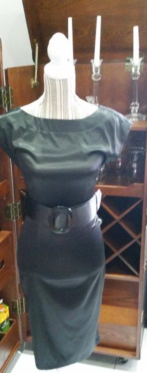 Zara Basic Kleid Etuikleid schwarz XS 34