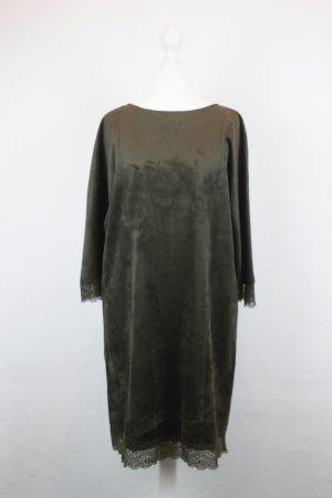 Zara Basic Kleid Gr. XS braun mit Spitzendetail