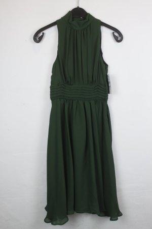 Zara Basic Kleid Gr. XS dunkelgrün Reißverschluss seitlich (18/4/024) Neu mit Etikett