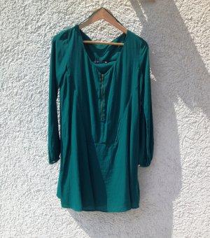 ZARA Basic Kleid grün M