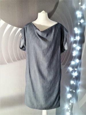 Zara Basic Hemdblousejurk donkergrijs