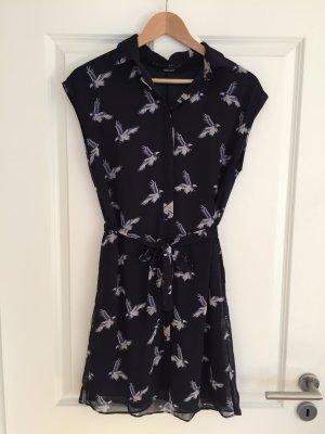 Zara-Basic Kleid mit Vogel-Print Gr.M