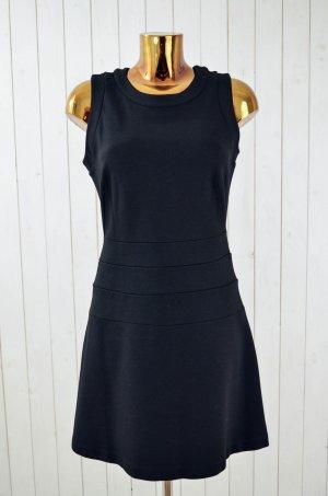 ZARA BASIC Kleid Schwarz Jerseykleid Ohne Arm Schwingend Reißverschluss Gr.L