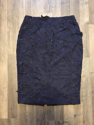Zara Basic Jupe en dentelle bleu foncé