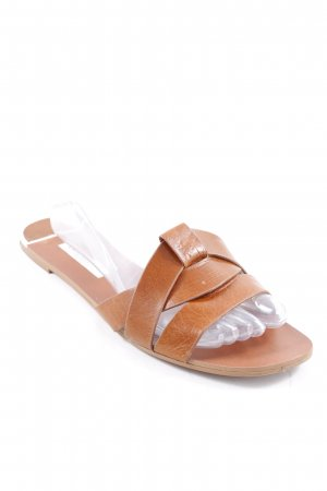 Zara Basic Comfort Sandals cognac-coloured casual look