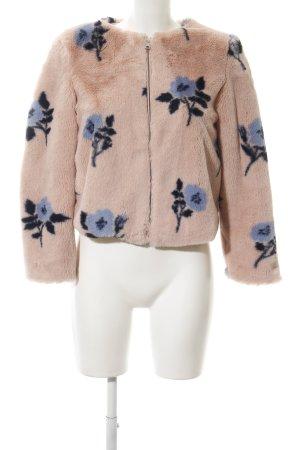 Zara Basic Jack van imitatiebont stoffig roze-blauw bloemen patroon