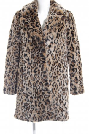 Zara Basic Kunstfelljacke Animalmuster Animal-Look