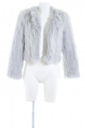 Zara Basic Fake Fur Jacket light grey casual look