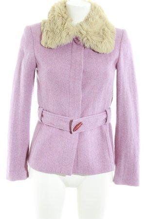 Zara Basic Kunstfelljacke meliert Casual-Look