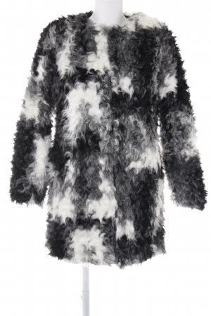 Zara Basic Kunstfellmantel Animalmuster Animal-Look