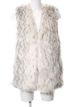 Zara Basic Fake Fur Vest white-brown elegant