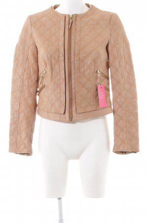 Zara Basic Kunstlederjacke braun Steppmuster Business-Look