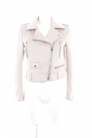 Zara Basic Jack van imitatieleder stoffig roze retro uitstraling