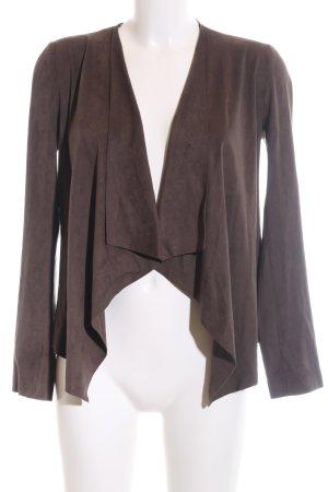 Zara Basic Kunstlederjacke bronzefarben Business-Look
