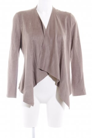 Zara Basic Kunstlederjacke beige Casual-Look