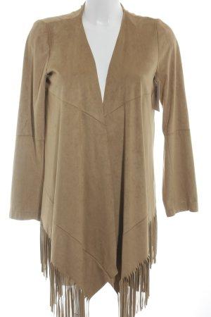 Zara Basic Faux Leather Jacket light brown Boho look