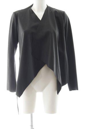 Zara Basic Jack van imitatieleder zwart casual uitstraling