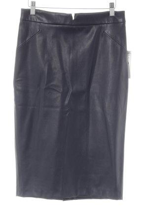 Zara Basic Kunstlederrock dunkelviolett Casual-Look