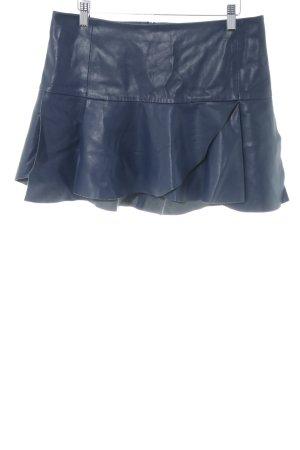 Zara Basic Gonna in ecopelle blu stile stravagante