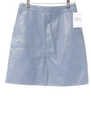 Zara Basic Kunstlederrock himmelblau Casual-Look