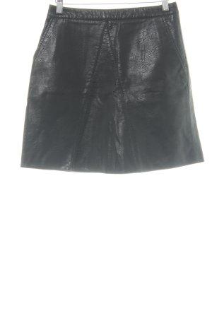 Zara Basic Rok van imitatieleder zwart wetlook