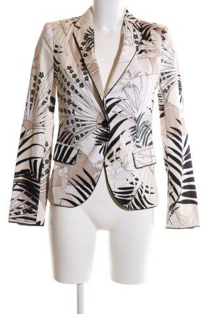 Zara Basic Blazer court motif abstrait style d'affaires