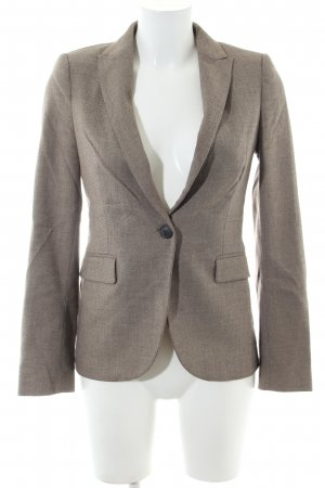 Zara Basic Kurz-Blazer braun meliert Business-Look