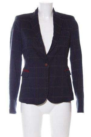 Zara Basic Kurz-Blazer blau Karomuster Business-Look