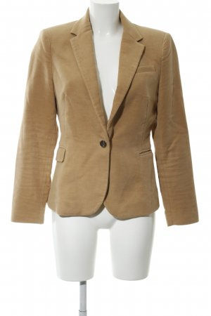 Zara Basic Kurz-Blazer wollweiß-braun Business-Look