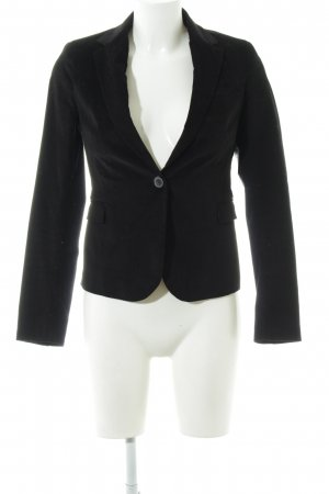 Zara Basic Kurz-Blazer schwarz Business-Look